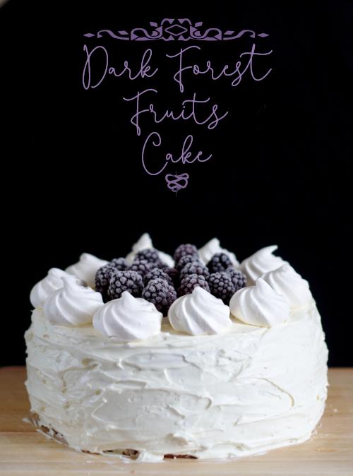 dark forest fruits cake