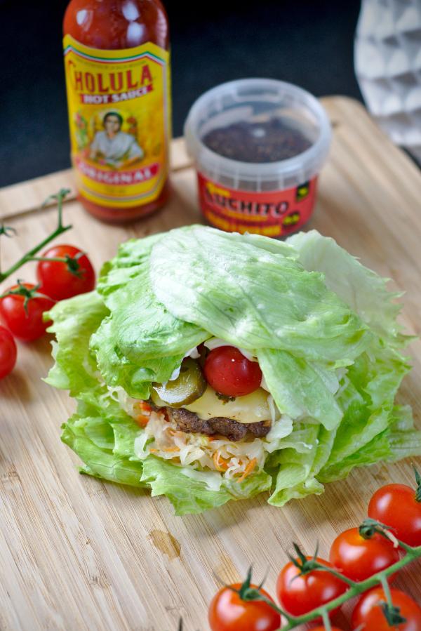 iceberg taco burgers with sauerkraut #keto#glutenfree