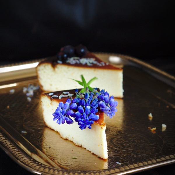 Low sugar cheesecake made with coconut flour