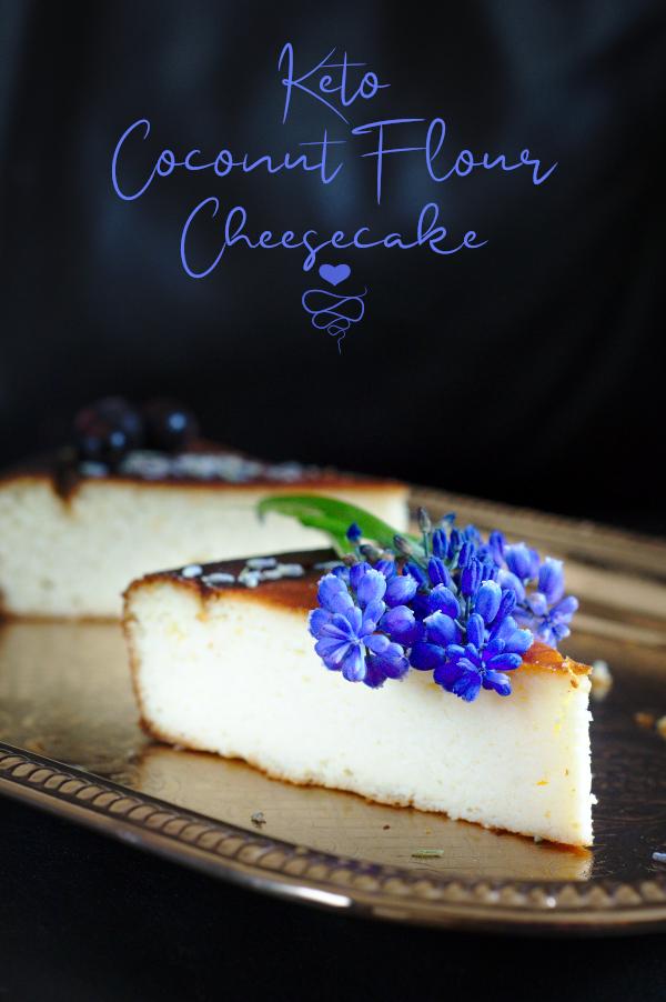 keto coconut flour cheesecake