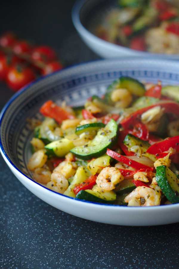 keto prawn and courgette