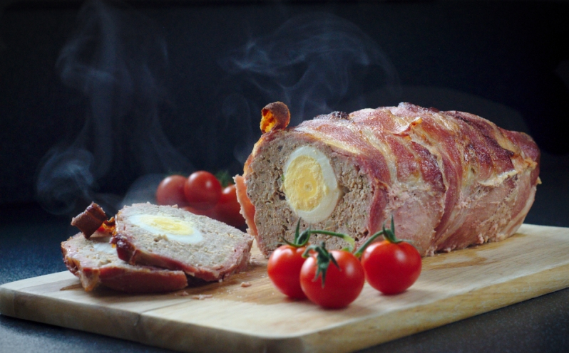 egg stuffed pork meatloaf