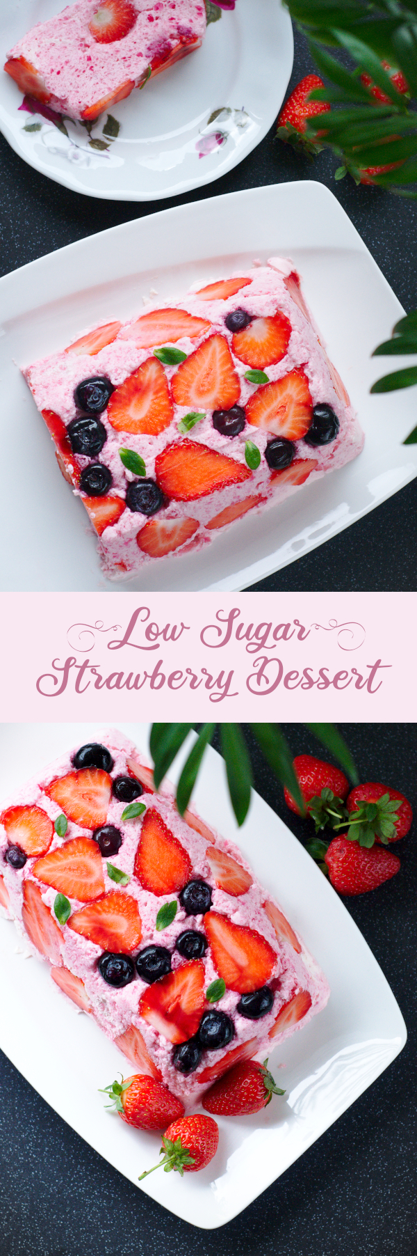 low sugar strawberry dessert