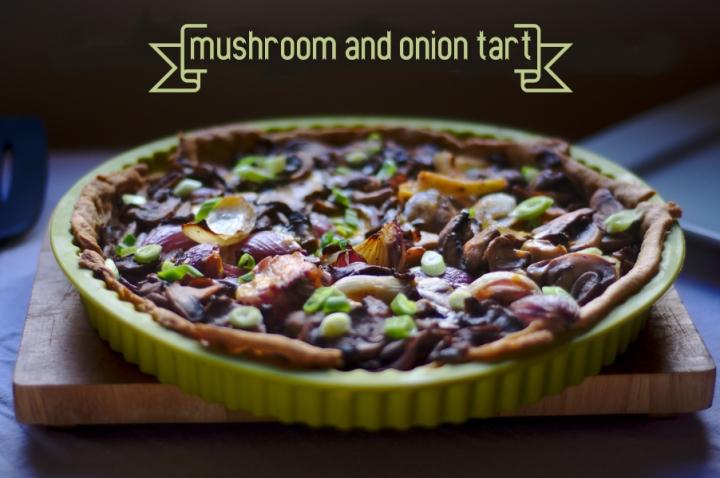 mushroom and oniontart