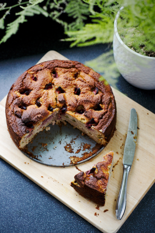rhubarb cake with coconut flour (glutenfree/keto)