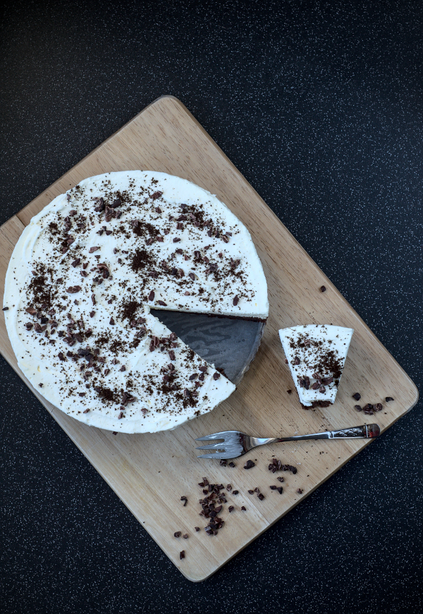 no flour keto chocolate and cream cake