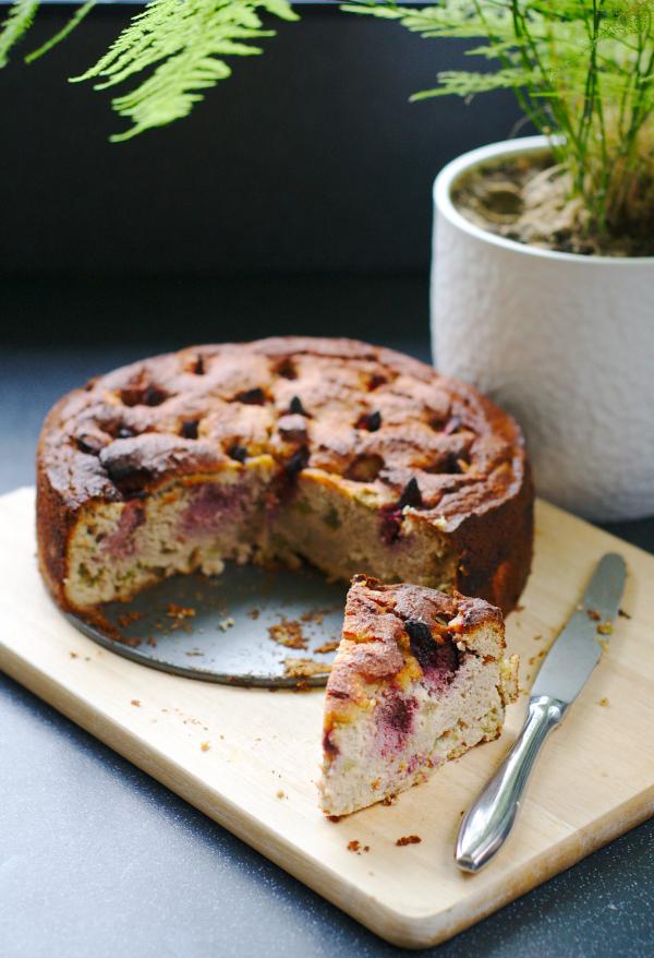 no flour rhubarb cake