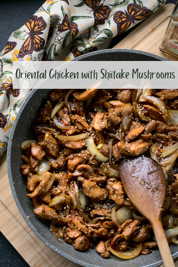 oriental chicken with shiitake mushrooms &sesame