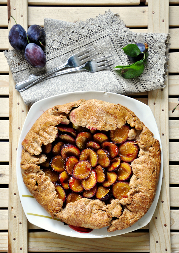rustic plum tart (regular & keto option)