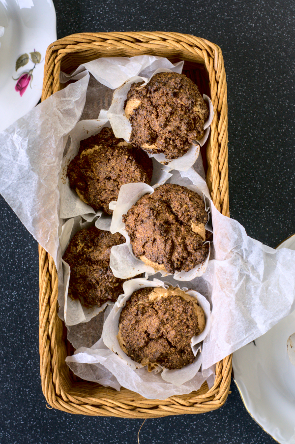 linseed flour peanut butter muffins#keto