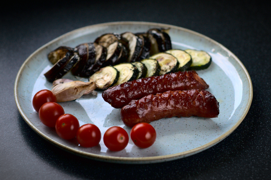 smoked sausage traybake (ketofriendly)