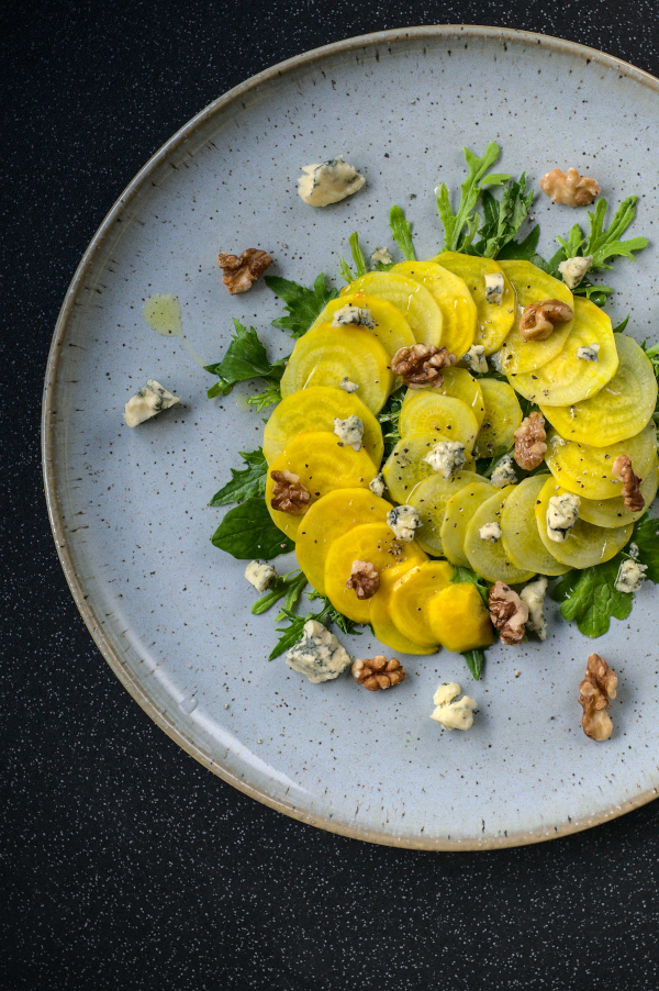 golden beetroot carpaccio