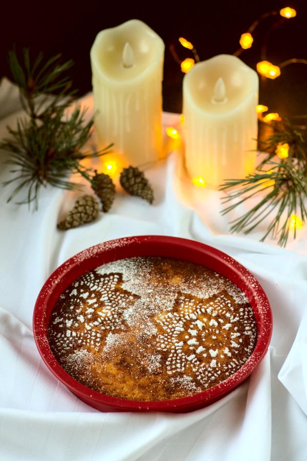 keto coconut & orange Christmaspie