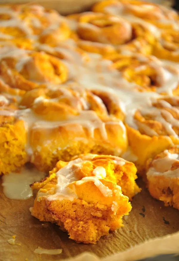 naughty sweet cinnamon pumpkin buns